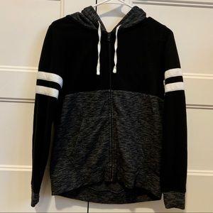 Victoria's Secret PINK black and grey hoodie